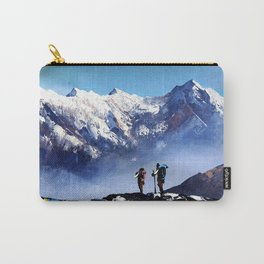 Panoramic View Of Ama Dablam Peak Everest Mountain Carry-All Pouch
