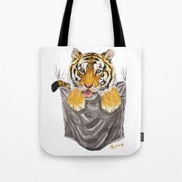 Pocket-Sized Gabrielle Tiger Tote Bag
