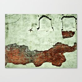 i like to save the crumbs. Canvas Print
