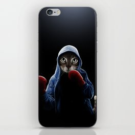 Boxing Cool Cat iPhone Skin