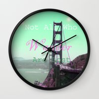 wander Wall Clocks featuring Wander by Suzanne Kurilla