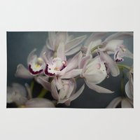 orchid Area & Throw Rugs featuring Orchid by Pure Nature Photos