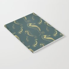 Happy Hippocampus Teal Notebook
