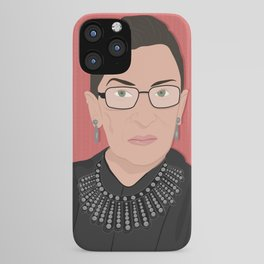Ruth Bader Ginsburg | Bad Ass Women Series iPhone Case