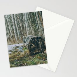Walking by a forest Stationery Cards