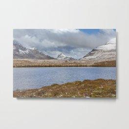 Snow Covered Hills Metal Print