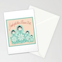 Teal Russian Dolls-Gift for Moms-Folk Art Design Stationery Cards