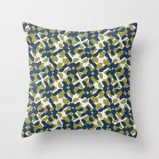odrina (lime/navy) Throw Pillow
