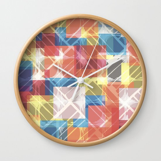 squares n holes... Wall Clock