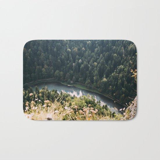 Aerial Forest River Bath Mat