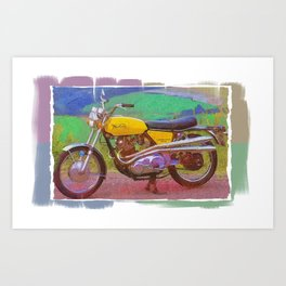 Norton Commando 750 Motorcycle Art Print