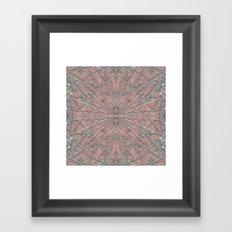 Snowflake Pink Framed Art Print