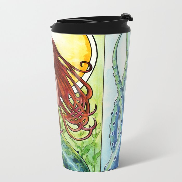 Kelp Forest Mermaid Metal Travel Mug