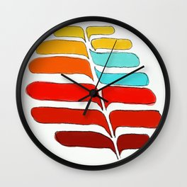 Whispering Leaves Wall Clock