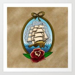 Smooth Seas Don't Make Good Sailors Art Print