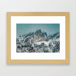 Jagged peaks in Banff National Park Framed Art Print