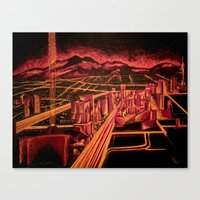 las vegas Canvas Prints featuring Las Vegas by Rishi Parikh
