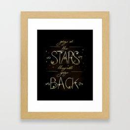Gaze at the Stars Framed Art Print