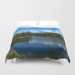 Tranquil Morning At Gull Point Drive Duvet Cover