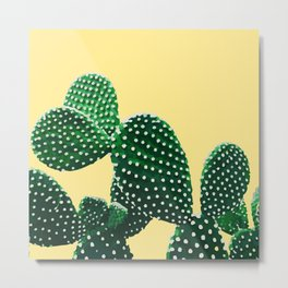 Prickly Plant ( yellow ) Metal Print
