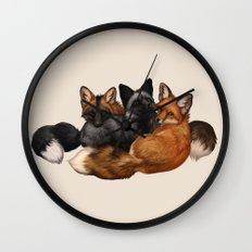 Fox Trio Wall Clock