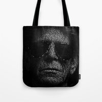 lou reed Tote Bags featuring LOU REED, SO FREE. by Robotic Ewe