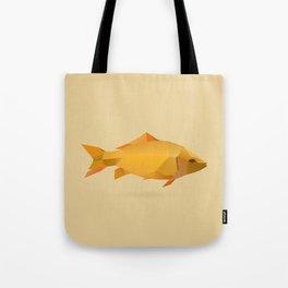 Geometric Goldfish - Modern Animal Art Tote Bag