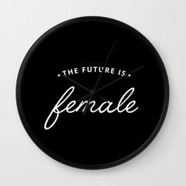 A Female Future Wall Clock