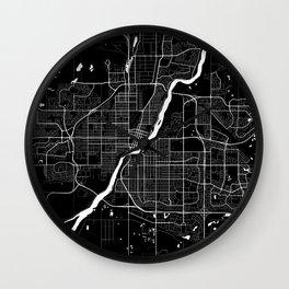 Saskatoon - Minimalist City Map Wall Clock