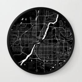 Saskatoon - Minimalist City Map Wall Clock