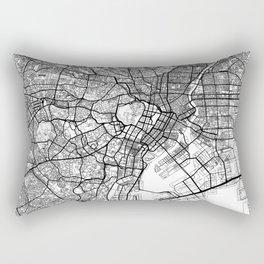 Tokyo Map White Rectangular Pillow