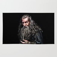 gandalf Area & Throw Rugs featuring Gandalf  by DavinciArt