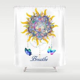 Breathe Mandala Shower Curtain