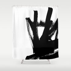 Abstract black & white 1 Shower Curtain