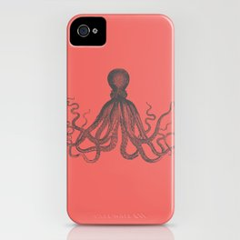 Octopus in Coral  iPhone Case