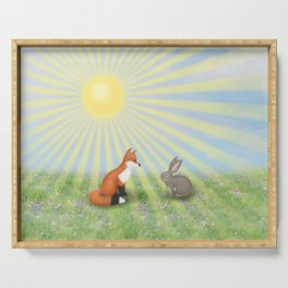 fox and bunny Serving Tray