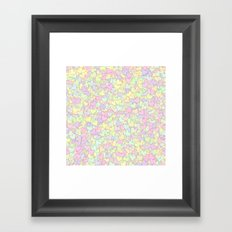 Cute Pastel Hearts 11 Framed Art Print