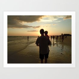 Daddy and me Art Print