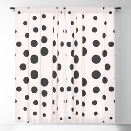 Mid-Century Modern Art - Bubblegum Spiral Dots Blackout Curtain