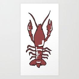 Crawfish // Crayfish // Crawdad Art Print