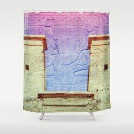 Egyptian Hieroglyphic Face Shower Curtain