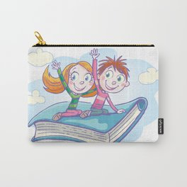 Flying Book Carry-All Pouch