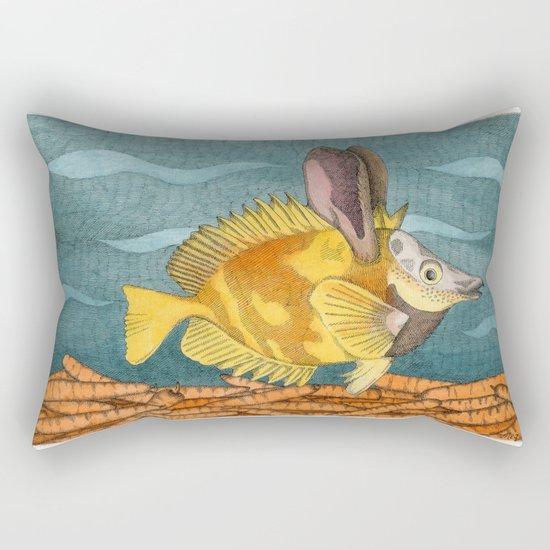 Foxface rabbit fish Rectangular Pillow