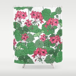Pelargonium flowers Shower Curtain