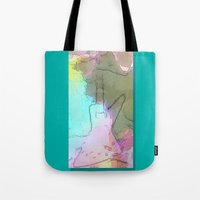 rock n roll Tote Bags featuring Rock 'n' Roll Fantasy by Geni