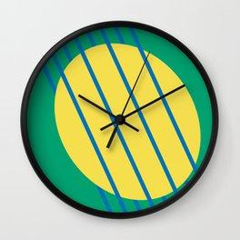 Abstract Woven Summer Sun Graphic Art Print Wall Clock