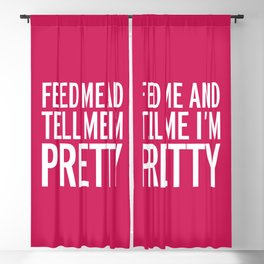 Feed Me Funny Quote Blackout Curtain