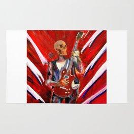 Fantasy art heavy metal skull guitarist Rug
