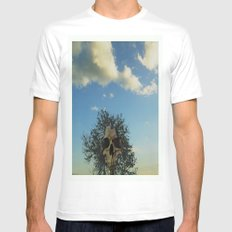 skull tree MEDIUM Mens Fitted Tee White
