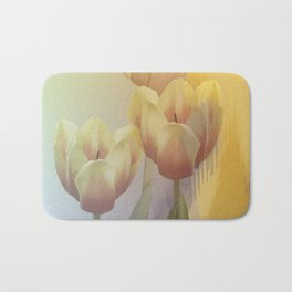 Tulips in golden light Bath Mat
